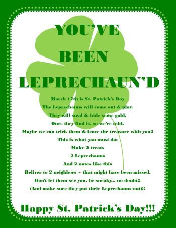 Printable Letter From Leprechaun